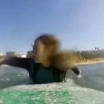 surfer films shark