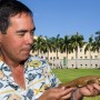 Stephen M. Kajiura, Ph.D., study co-author, a professor of biological sciences and director of the Elasmobranch Research Laboratory in FAU's Charles E. Schmidt College of Science shows the newly discovered shark.